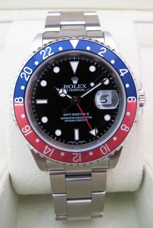 "ROLEX GMT Master II 16710 "" Pepsi Faded "" -"