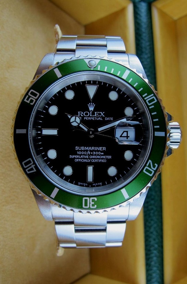 rolex submariner verte mark i fat four occasion rolex 16610lv rolex submariner verte rolex. Black Bedroom Furniture Sets. Home Design Ideas