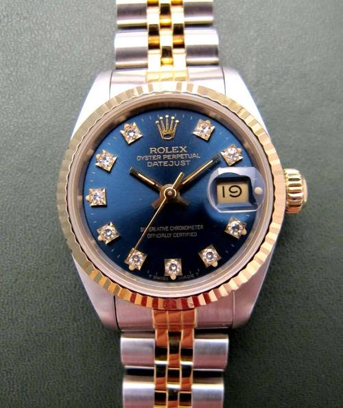 rolex oyster perpetual datejust lady d 39 occasion rolex occasion rolex montre femme d 39 occasion. Black Bedroom Furniture Sets. Home Design Ideas