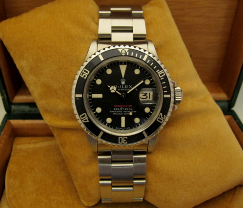 ROLEX Submariner Date 1680 Rouge Mark IV Full Set -