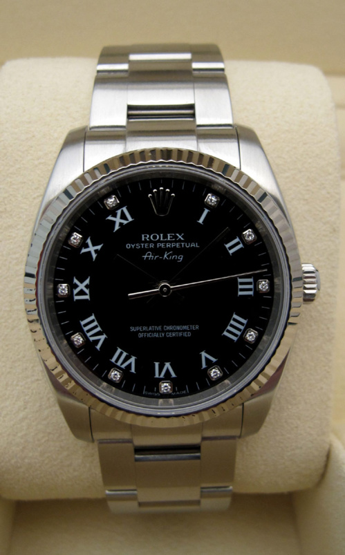 ROLEX Air-King - Indexs Brillants.