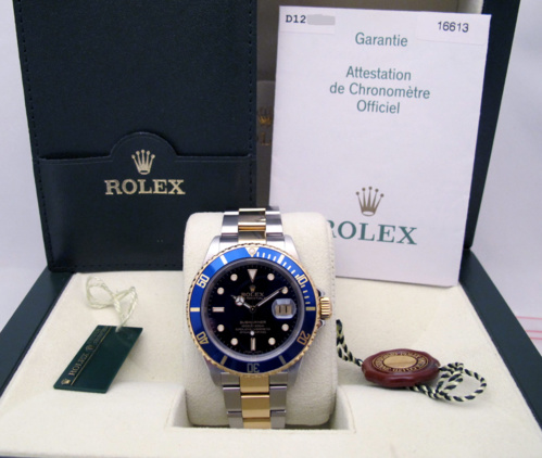 ROLEX Submariner Date Or/Acier -