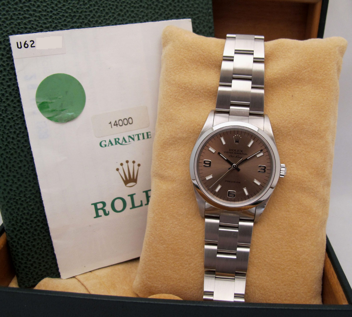 ROLEX Oyster Perptual Air-King - Cadran rose -