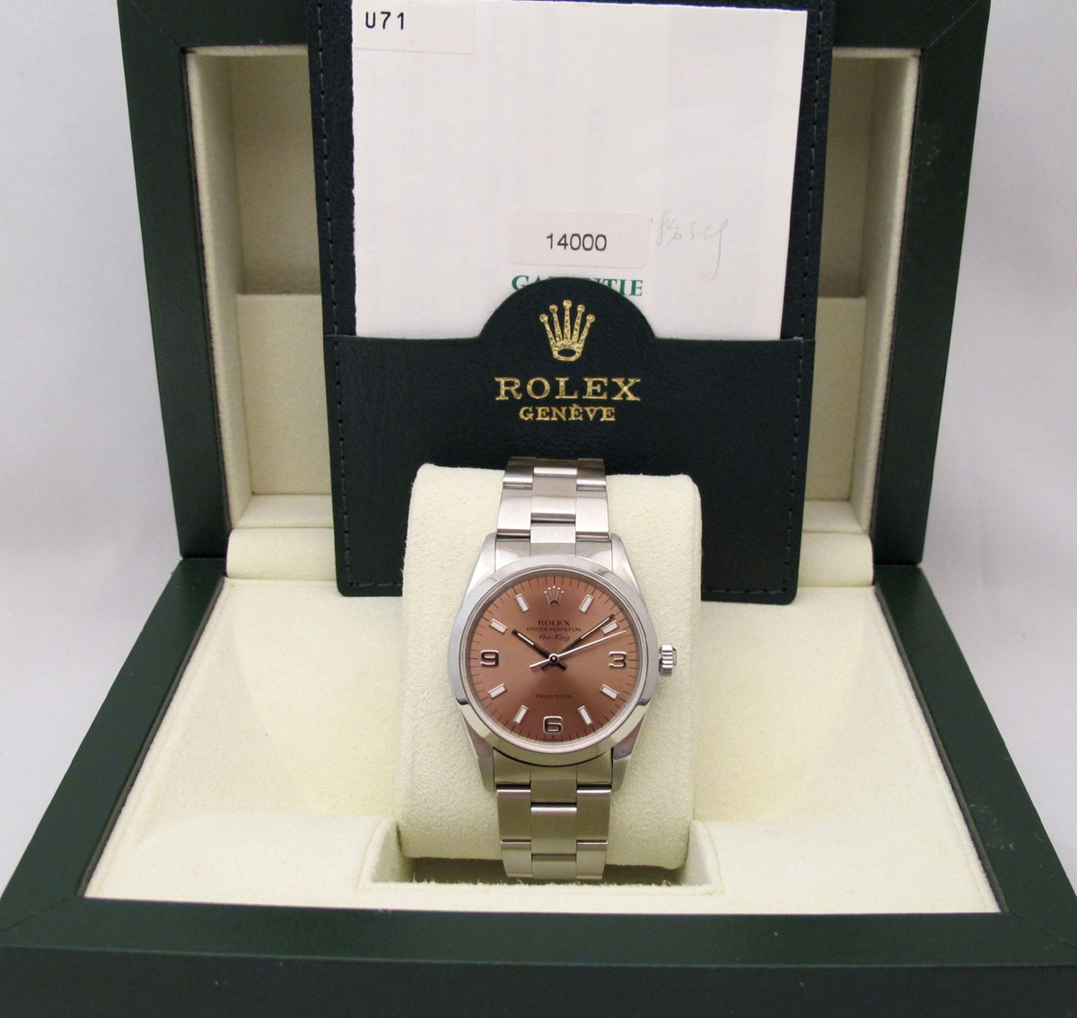 ROLEX Oyster Perpetual Air-King- Cadran Rose.