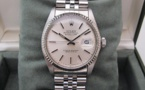 ROLEX Oyster Perpetual DATEJUST - Lunette Or Blanc.