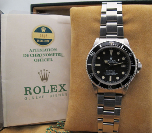 "ROLEX Sea-Dweller 1665 "" GREAT WHITE  "" Mark I - Full Set."