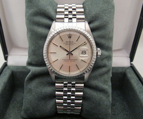 ROLEX Datejust 1603 - Cadran Pie-Pan Sigma.