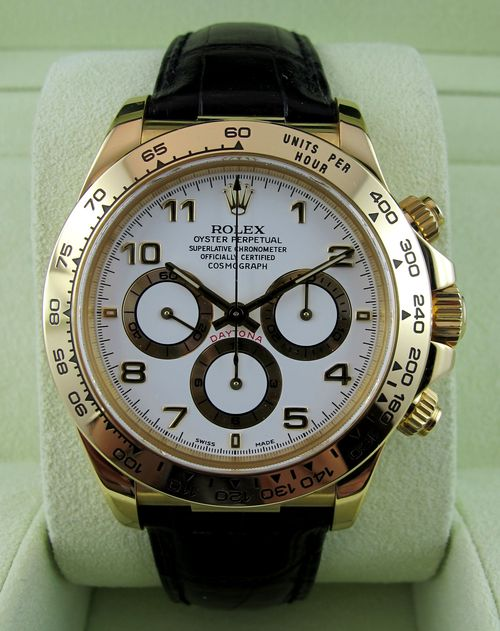 ROLEX Cosmograph Daytona Or/Cuir Mouvement Zénith