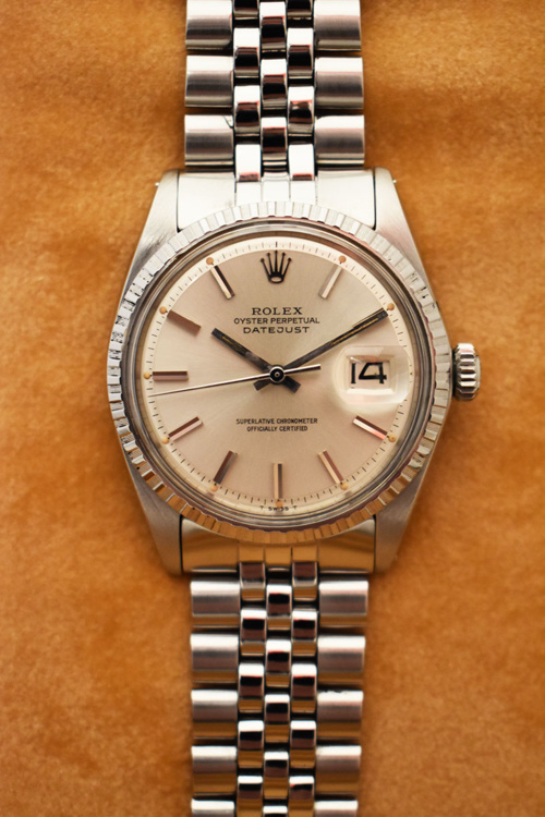 ROLEX Oyster Perpetual DATEJUST 1603 - Cadran Pie-Pan.