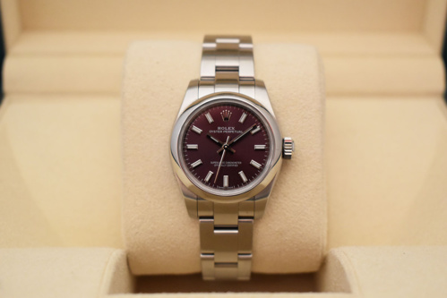 ROLEX Oyster Perpetual 26MM - Cadran Red Grape.