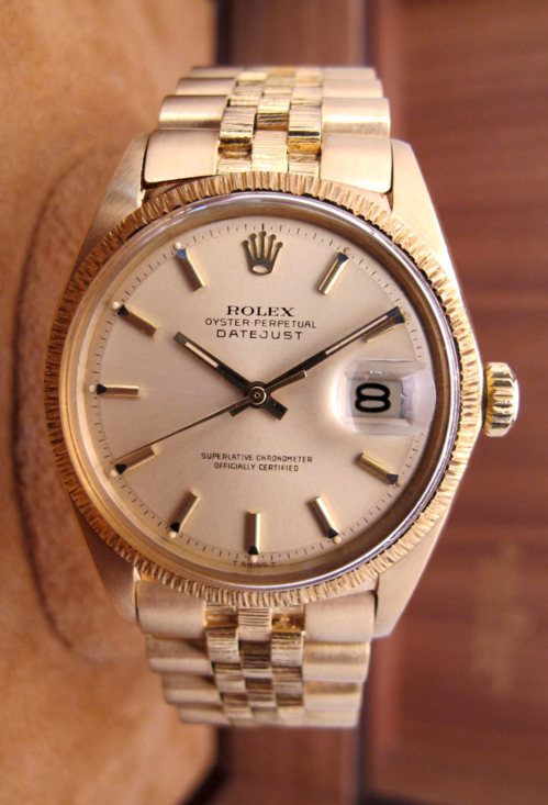 "ROLEX Datejust Tout or jaune 18K "" Ecorce "" -"