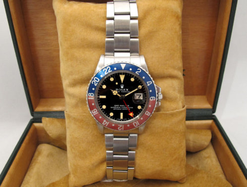 "ROLEX GMT Master 1675 "" All Red Hand "" -"