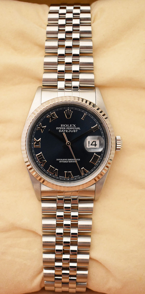ROLEX Oyster Perpetual DATEJUST 16234 Full Set - Année 2001.
