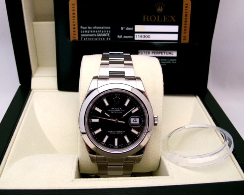 ROLEX Oyster Perpetual Datejust II Tout acier -