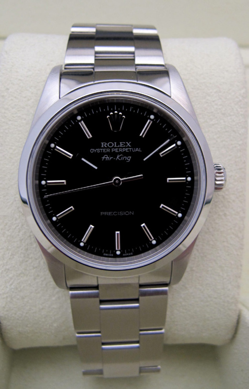 ROLEX Air-King Precision Cadran noir -
