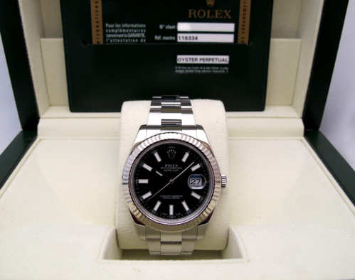 ROLEX Datejust II Lunette Or Gris -
