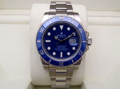 ROLEX Submariner Date Tout or blanc 18K -