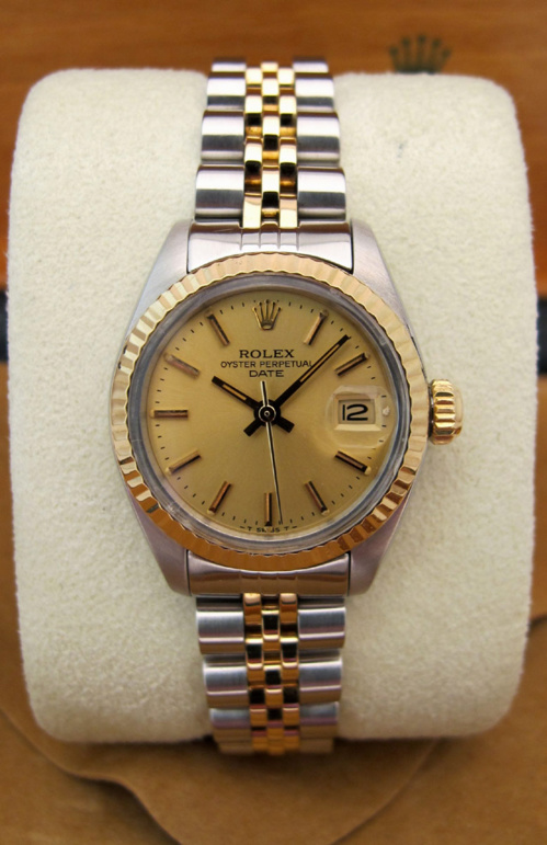 ROLEX Oyster Perpetual DATE Lady Or/acier -