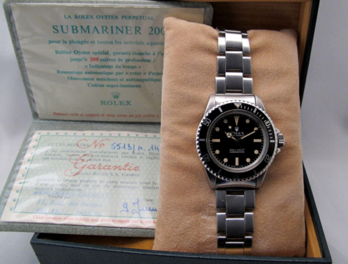 ROLEX Submariner 5513 Meters First - Full Set.