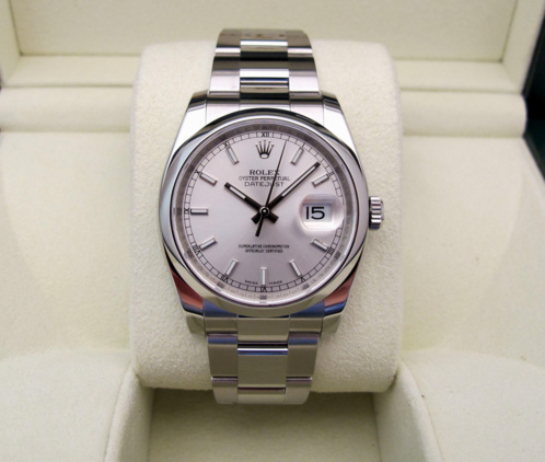 ROLEX Oyster Perpetual DATEJUST - Cadran Silver.