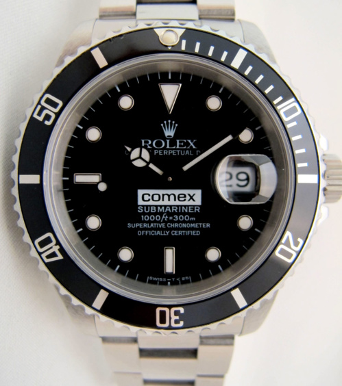 "ROLEX Submariner Date 16610 COMEX "" BIG LOGO "" -"