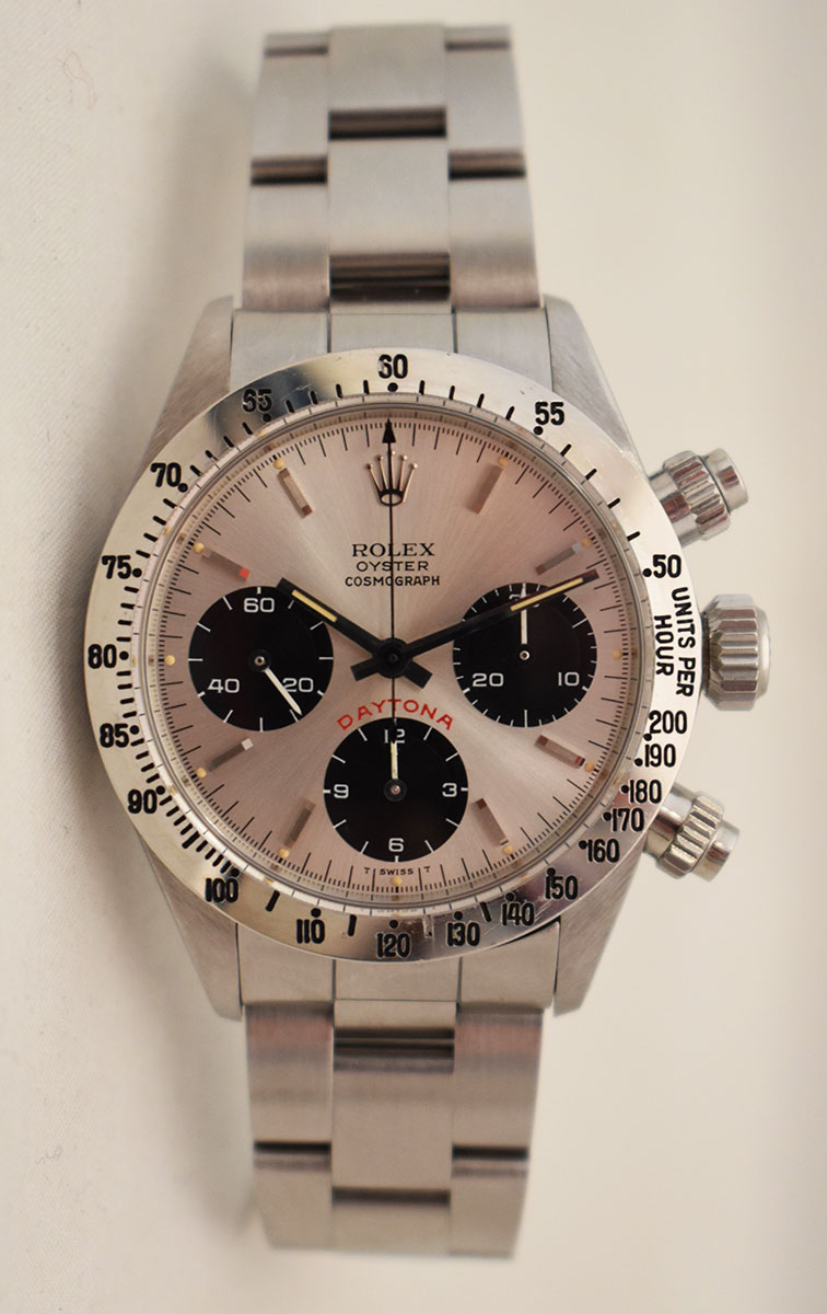 ROLEX Cosmograph DAYTONA 6265 Silver BIG RED - Full Set.