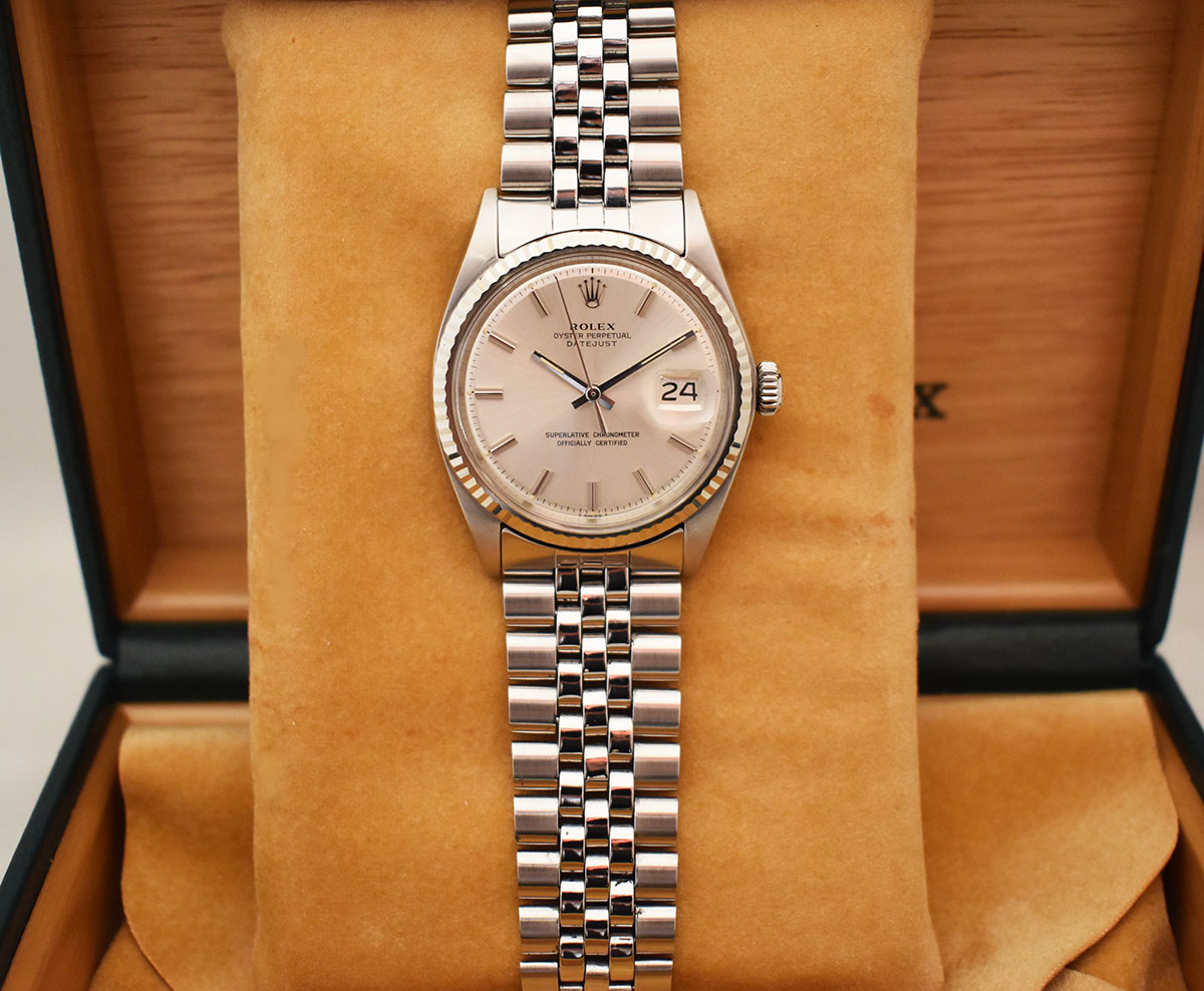 ROLEX Oyster Perpetual DATEJUST 1601 - Cadran Pie-Pan.