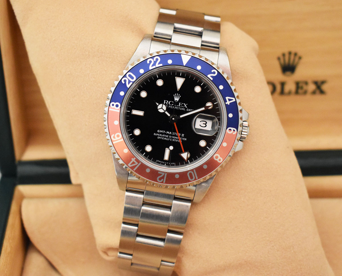 ROLEX GMT Master II 16710 Pepsi - Full Set.