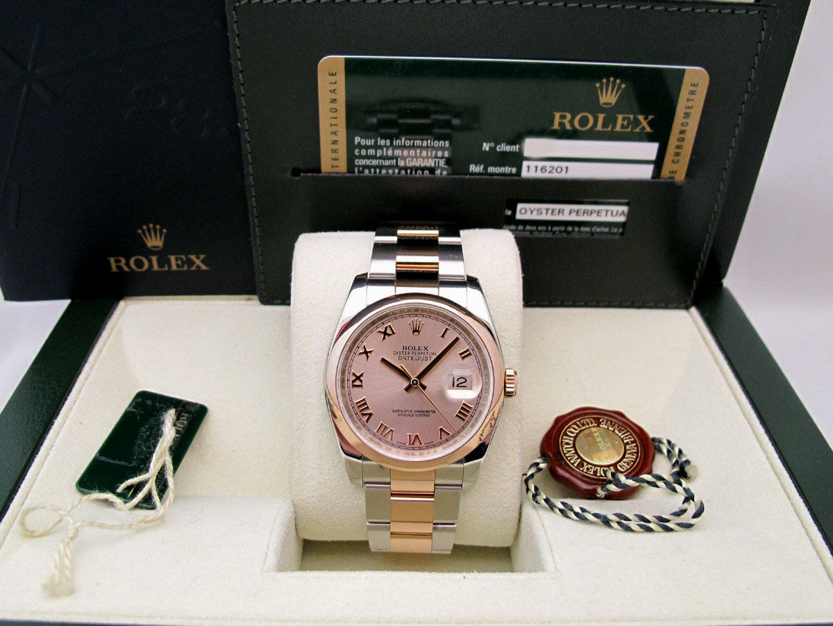 ROLEX Oyster Perpetual DATEJUST - Or Rose / Acier -