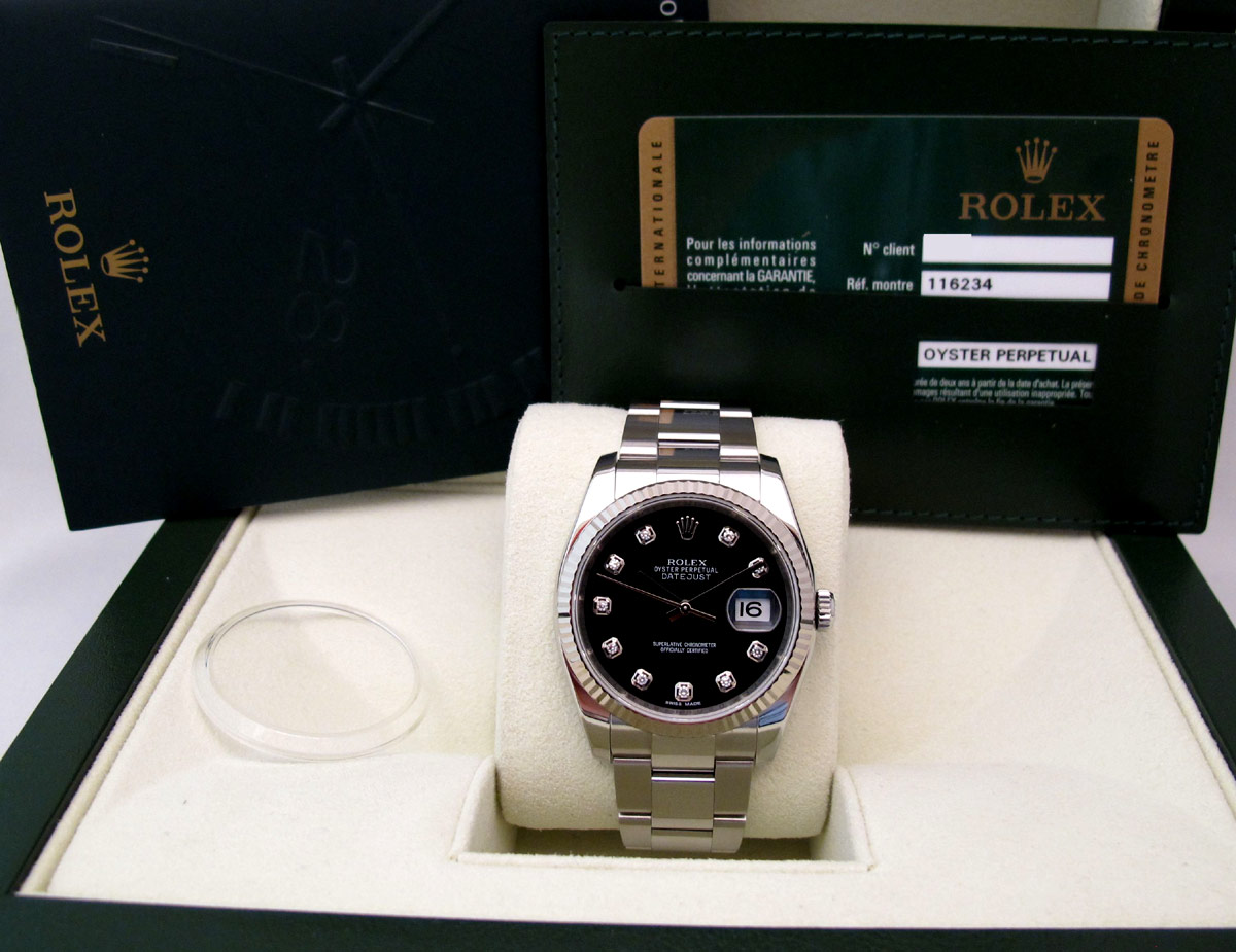 ROLEX Oyster Perpetual DATEJUST - Indexs Brillants.