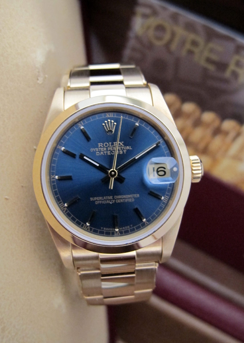 ROLEX Oyster Perpetual DATEJUST Tout or Jaune -