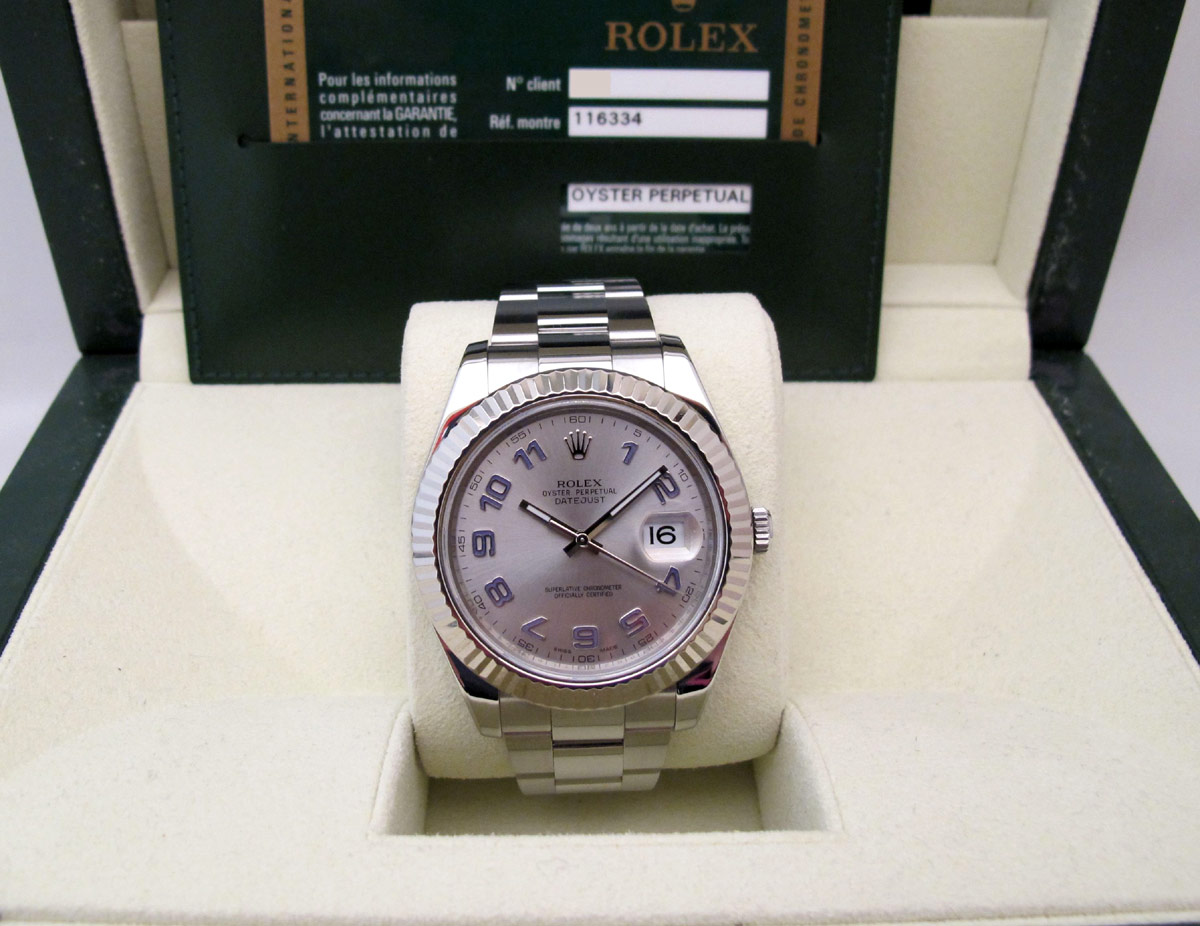 ROLEX DATEJUST II Lunette Or blanc -