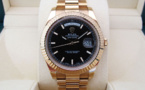 ROLEX DAY-DATE II Tout Or Rose 18K -