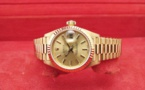 ROLEX Oyster Perpetual DATEJUST Lady - Tout Or Jaune 18K.