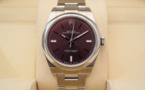 ROLEX Oyster Perpetual 39MM - Cadran Red Grape.