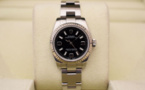 ROLEX Oyster Perpetual Lady - Lunette Or Gris. Full Set.